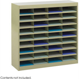 36 Compartment Steel Literature Organizer Sand by