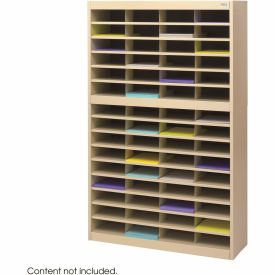 60 Compartment Steel Literature Organizer - Sand
