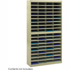 72 Compartment Steel Literature Organizer - Sand
