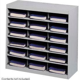 18 Compartment Steel Project Organizer - Gray