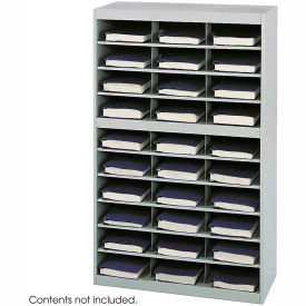 30 Compartment Steel Project Organizer - Gray