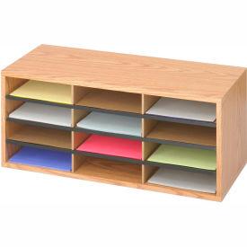 Wood/Corrugated Literature Organizer - 12