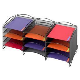 12 Compartment Mesh Literature Organizer