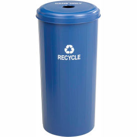 Safco® Tall Round Recycling Receptacle - 9632BU
