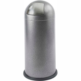 Black Speckle Push Top Dome Receptacle - 15 Gallon