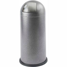 Black Speckle Push Top Dome Receptacle - 15 Gallon