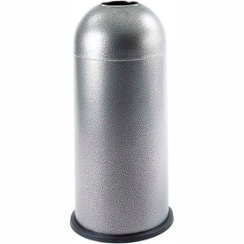Black Speckle Open Top Dome Receptacle - 15 Gallon