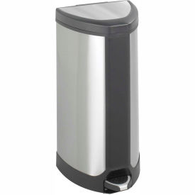 Step On 10 Gallon Stainless Receptacle   Stainless Steel