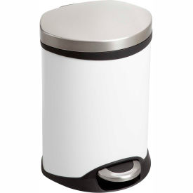 Step-On Medical Receptacle - 1.5 Gallon White
