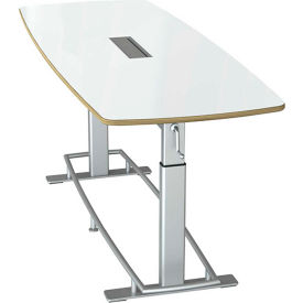 "Focal™ Confluence 6 Height Adjustable Conference Table - 94"" x 36"" - Dry Erase"