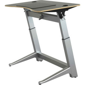 "Focal™ Locus 4 Height Adjustable Sit-Stand Desk - 48"" x 30"" - Black"