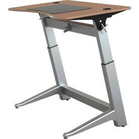"Focal™ Locus 4 Height Adjustable Sit-Stand Desk - 48"" x 30"" - Black Walnut"