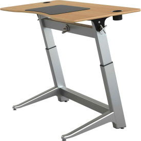 "Focal™ Locus 4 Height Adjustable Sit-Stand Desk - 60"" x 30"" - White Oak"