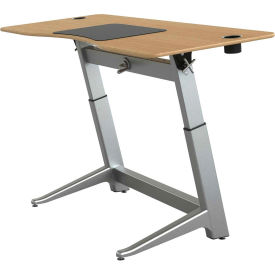 "Focal™ Locus 4 Height Adjustable Sit-Stand Desk - 72"" x 30"" - White Oak"