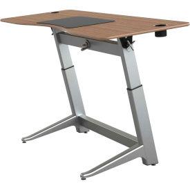 "Focal™ Locus 4 Height Adjustable Sit-Stand Desk - 72"" x 30"" - Black Walnut"