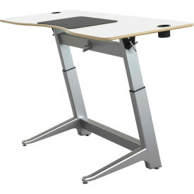 "Focal™ Locus 4 Height Adjustable Sit-Stand Desk - 72"" x 30"" - Glacier White"