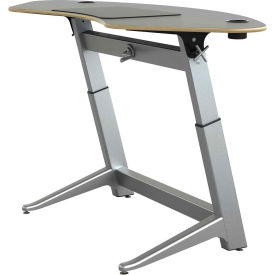 "Focal™ Sphere Height Adjustable Sit-Stand Desk - 78"" x 30"" - Black"