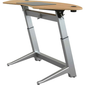 """Focal™ Sphere Height Adjustable Sit-Stand Desk - 78"""" x 30"""" - White Oak"""