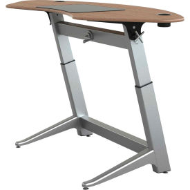 "Focal™ Sphere Height Adjustable Sit-Stand Desk - 78"" x 30"" - Black Walnut"