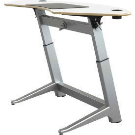 "Focal™ Sphere Height Adjustable Sit-Stand Desk - 78"" x 30"" - Glacier White"