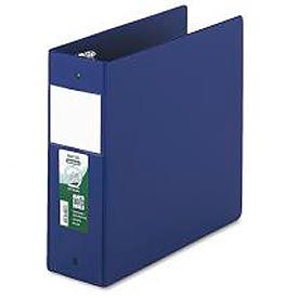 "Antimicrobial Locking Round Ring Binder For 11 X 8-1/2, 4"" Cap., Dark Blue"