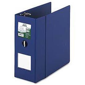 "Antimicrobial Locking D-Ring Binder For 11 X 8-1/2 Sheets, 5"" Cap., Dark Blue"