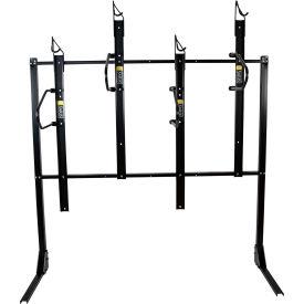Bike Fixation 8044, Indoor 4 Bike Lockable Vertical Storage Rack