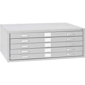 File Cabinets Blue Print Sandusky 5 Drawer Flat 40 3 4w X 28 8d 16 1 8h Dove Gray B1299976 Global