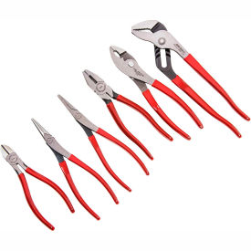 Proto J202GS 6 Piece Plier Set (Long Nose, Slip Joint, Diagonal, Tongue & Groove, Linesman)