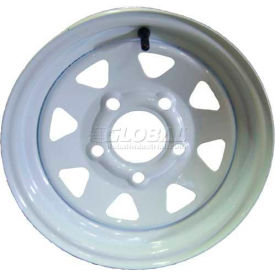 Sutong Tire Resources NB1009 Trailer Wheel 15 x 5 (5-4.5) - White - Spoke