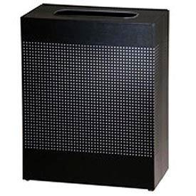 Rubbermaid® Silhouette SC22E Square Open Top Receptacle, 50 Gallon - Black