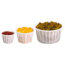 DART® SCC200, Heavy Duty Pleated Souffle Cups, White, 5,000/Case