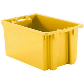 "Schaefer Stack & Nest Tote FB603 - 23""L x 15""W x 12""H - Open Handles - Yellow - Pkg Qty 15"