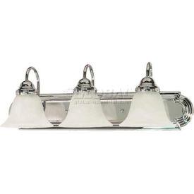 "Satco 60-317 Ballerina 3 Light - 24"" - Vanity w/ Alabaster Glass Bell Shades  Polished Chrome"