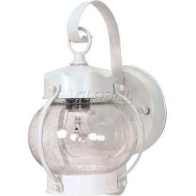 "Nuvo 60/630, 1 Light-Wall Lantern-Onion Lantern W/Clear Seed Glass, White, 6""W X 10.625""H"