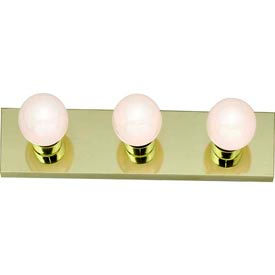 "Satco 77-188 3 Light - 18"" - Vanity - Strip  Polished Brass"