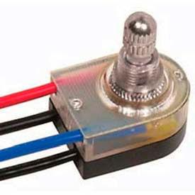 Satco 80-1136 3-Way Metal Rotary Switch  3/8-in. Bushing  Brass Finish