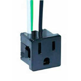 Satco 80-1142 3 Wire  2 Pole Snap-In Convenience Outlet
