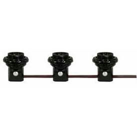 Satco 80-1474 3 Light Phenolic Threaded Candelabra Harness Set  6-in. Centers