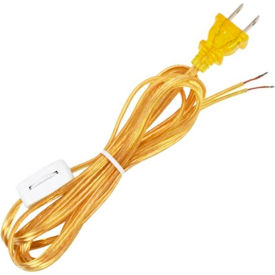Satco 90-1584 8 Ft. SPT-1 Cord Set with Line Switch, Clear Gold