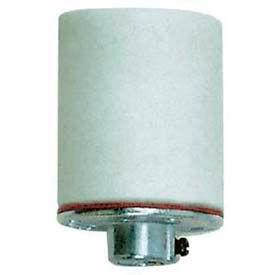 Satco 90-409 Keyless Glazed Porcelain Socket w/Metal 1/8 IP Cap and CSSNP Screw Shell.