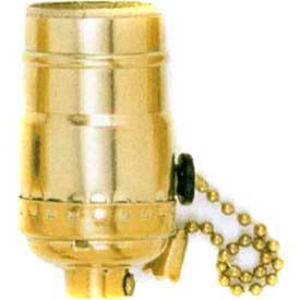 Satco 90-4310 3 Position Pull Chain Socket w/Diode Brite Gilt by