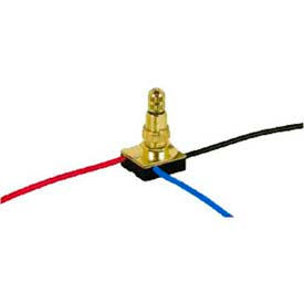 Satco 90-504 3-Way Metal Rotary Switch  Brass Finish