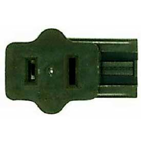 Satco 90-793 Female Slide Plug Polarized  Brown