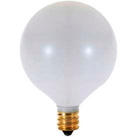 Satco A3926 40g16 1/2/W 40w Incandescent W/ Candelabra Base, 130v, Satin White Bulb - Pkg Qty 25