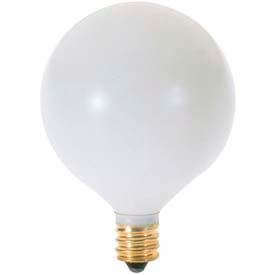 Satco S3825 25g16 1/2/W 25w Incandescent W/ Candelabra Base, 120v Sat White Bulb - Pkg Qty 25