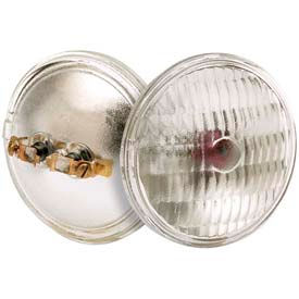 Satco S4326 H7551 Emergency Bldg Halogen 8w Sealed Beam W/ Screw Terminal Base Bulb - Pkg Qty 12