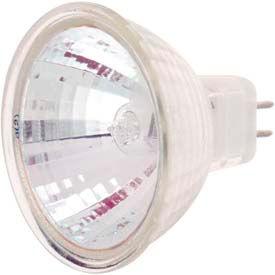 Satco S4354 20mr16/Frost Tfr 20w Halogen W/ Minature 2 Pin Round Base Bulb - Pkg Qty 12