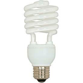 Satco S7227 23t2/27 23w W/ Medium Base -Warm White- Cfl Bulb - Pkg Qty 12