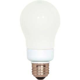 Satco S7281 7a19/27 7w W/ Medium Base - Soft White- Cfl Bulb - Pkg Qty 12